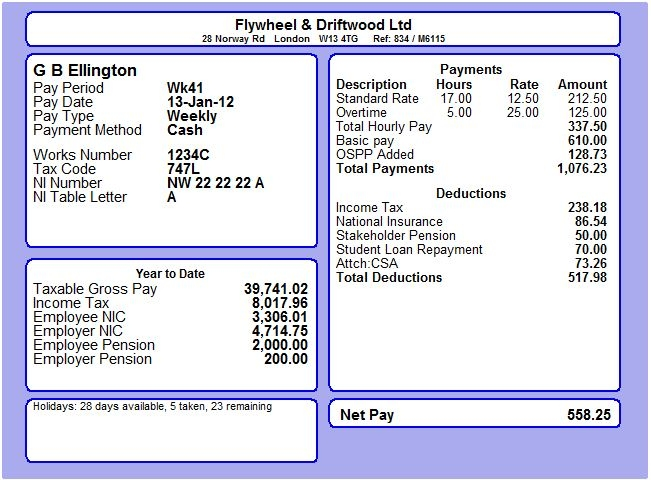 Free payslip template downloads